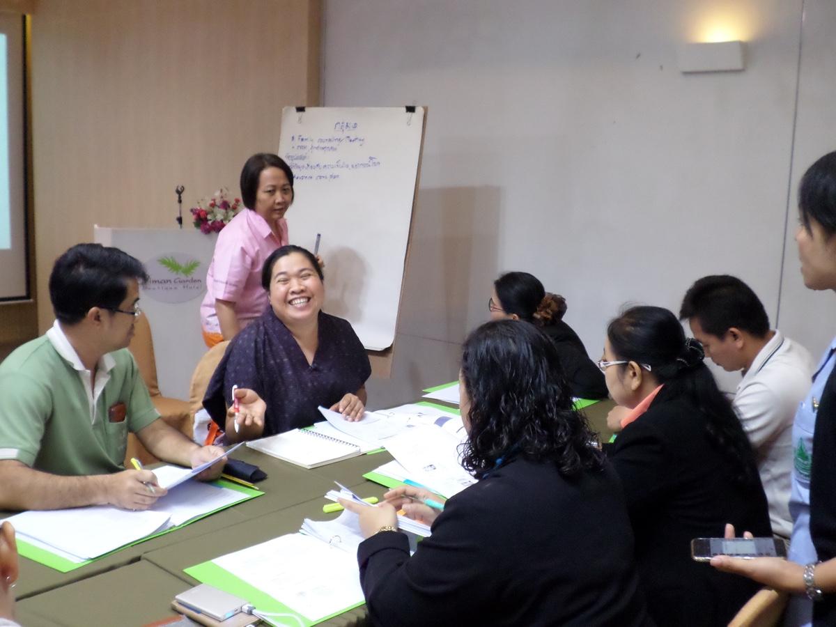 บรรยากาศ การแบ่งกลุ่ม ทำ workshop