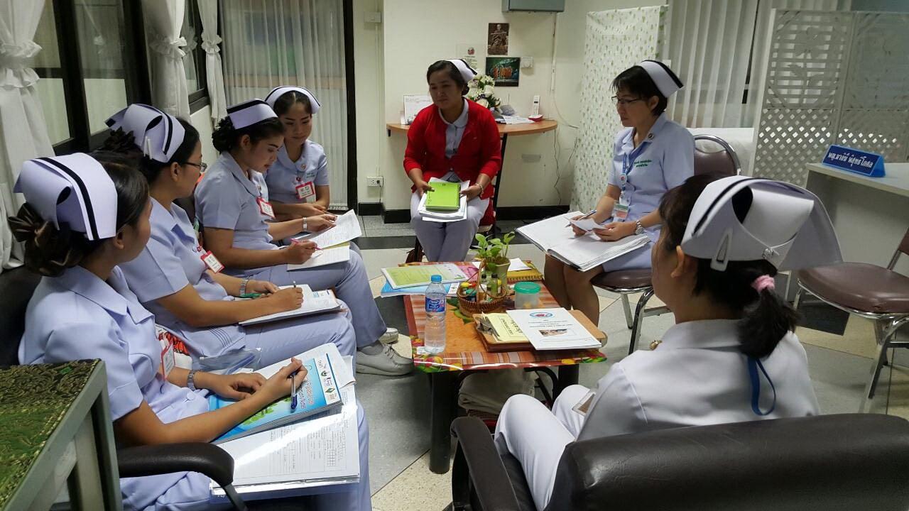 นิเทศการรับผู้ป่วยรายใหม่ ติดตามอาการผู้ป่วยเก่า